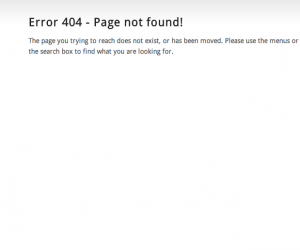 Wordpress Default 404 Error Page