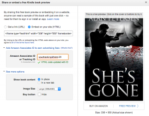 Embed Amazon Book Previews