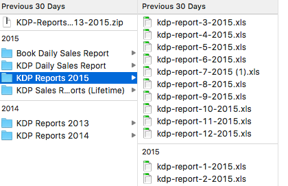 KDP Excel Reports