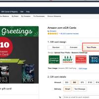 Customized Amazon Gift Cards