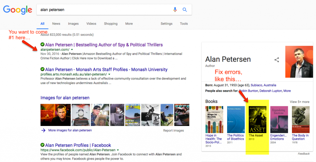Example of Fixing Google Search Results