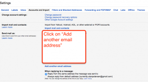Add email address to Gmail