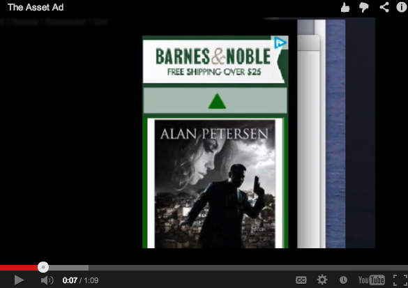 Barnes & Noble Banner Ad for The Asset