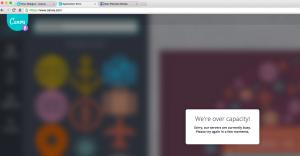 Canva.com server too busy screenshot