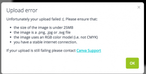 Canva upload error