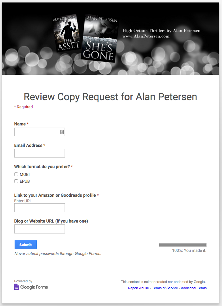 How to use Google Forms for Writers