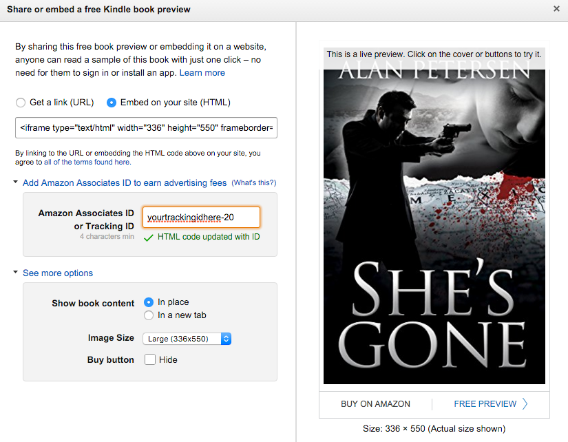 Embed Amazon Book Previews Into Your Website