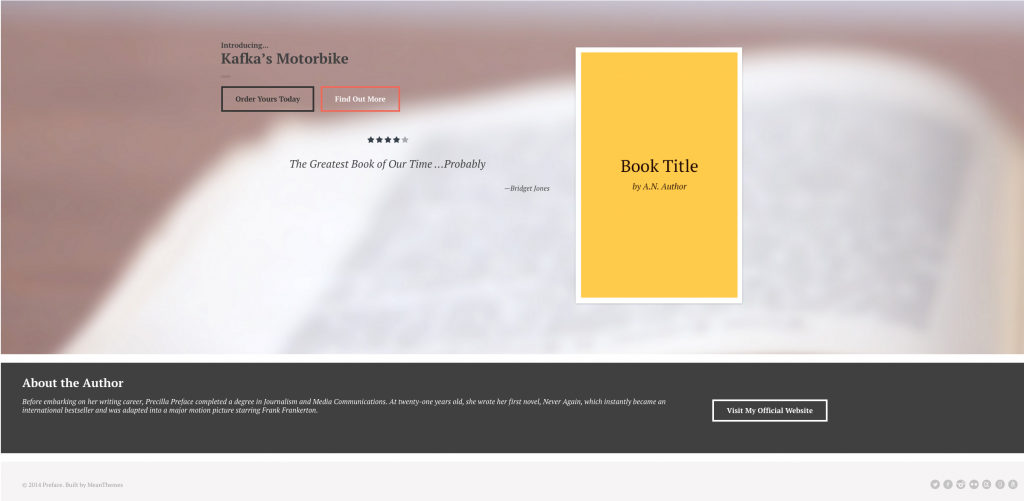 Preface a WordPress Theme for Authors