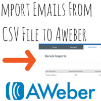 Import emails to Aweber