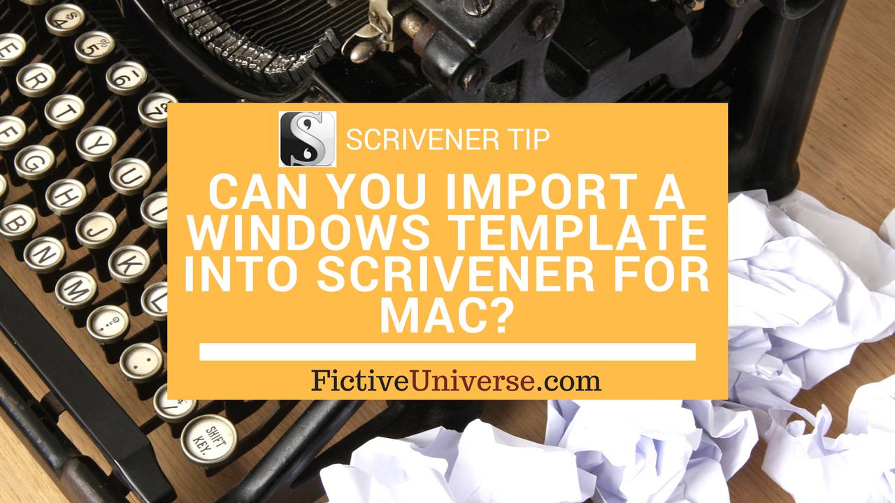 Import Scrivener Template