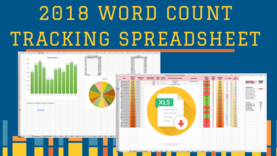 Protected: 2018 Word Count Tracking Spreadsheet for Writers